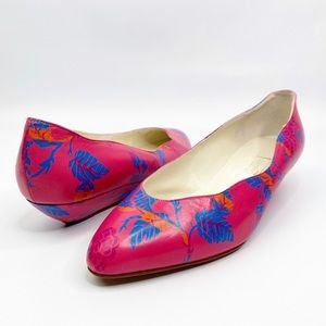 PALOMA Pink Floral Leather Shoes 8.5